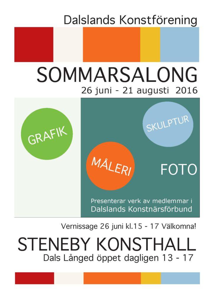 Affisch A4 Sommarsalong 2016