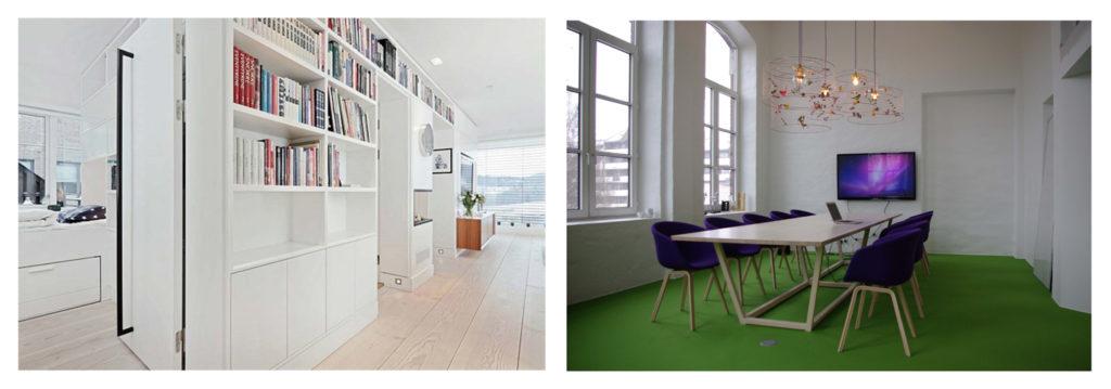Inredning och konferensbord, Oslo. Foto: Espen Hansen